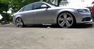 Audi A4 Com Rodas Aro 22 Presenza Pj 03 R 233 Plicas Camaro